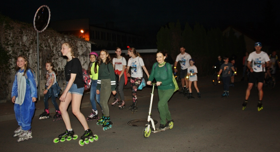 Drugi Roller Night Skating w Gostyninie